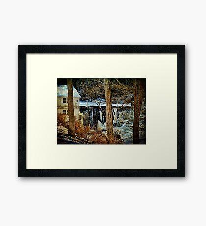 Kenoza Lake Dam Framed Print