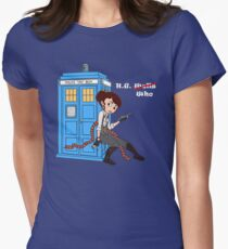 H. G. Who - pastel Tardis Womens Fitted T-Shirt