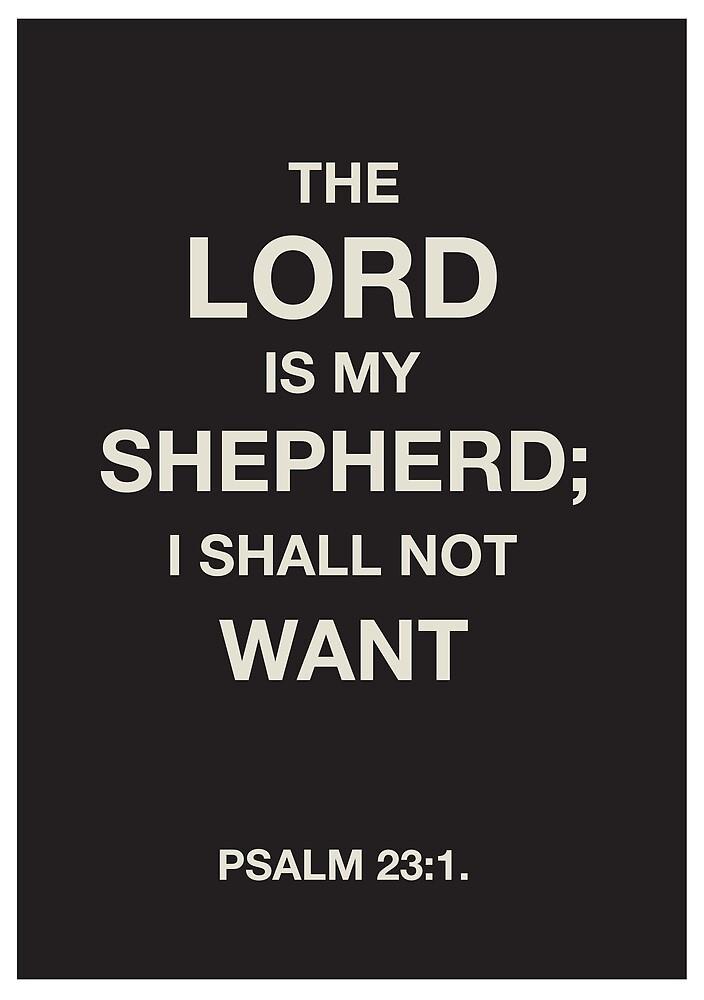 PSALMS 23:1 by chapterandverse