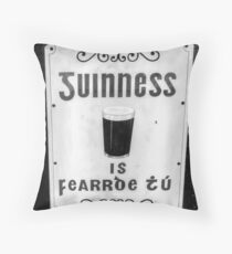 The Black Stuff Throw Pillow