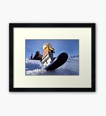 Hold on to your booty (pirate snowboarding) Framed Print