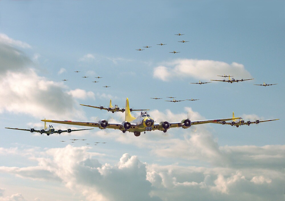 B17 - Mighty 8th En-route by Pat Speirs