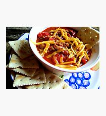 The Winter Standby...Home Made Chili Con Carne Photographic Print