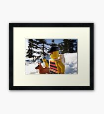 Pirate Snowshoeing  Framed Print