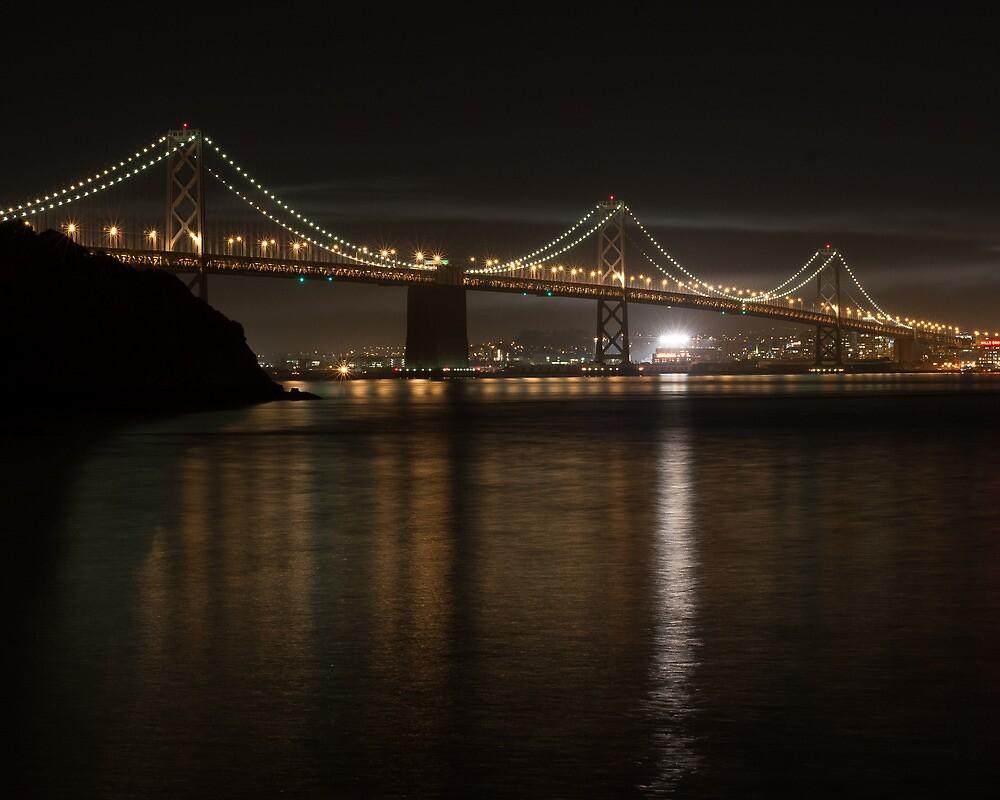 Bay Bridge at Night by barcherphoto