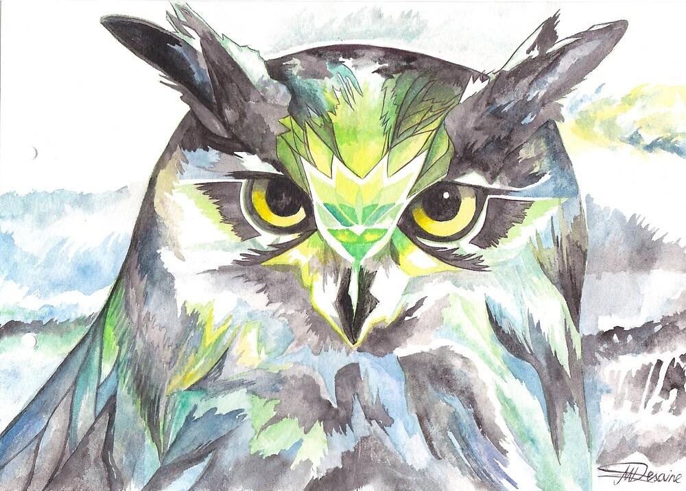 Dreamy Owl by snowmarite