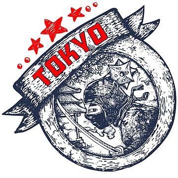 Tokyo theme illustration by djapart