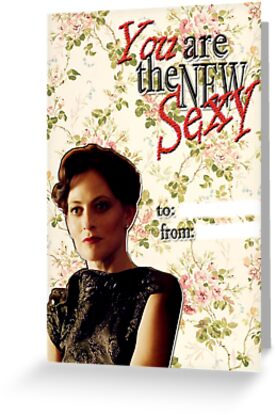 Irene Adler Valentine's Day Card - The New Sexy Floral II by thescudders
