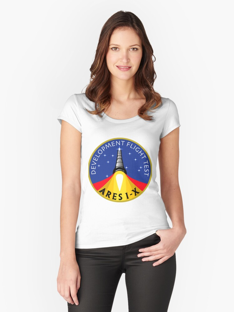 Ares I-X Development Test Flight Women's Fitted Scoop T-Shirt Front