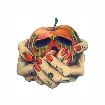 Poison Apple Tattooed Hands by chelsiemarie