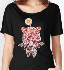 Final Fantasy Moogle-verse (red) Women's Relaxed Fit T-Shirt