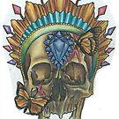 Gem Skull by Odditieart