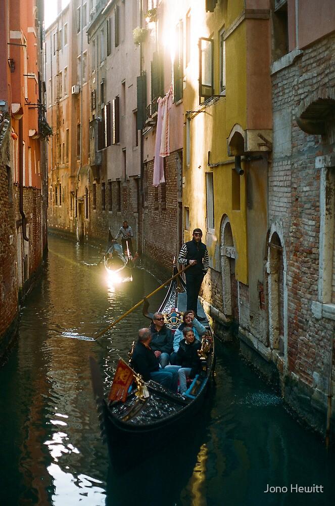 Gondola Light Streaks by Jono Hewitt