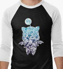 Moogle-verse (blue) Men's Baseball ¾ T-Shirt