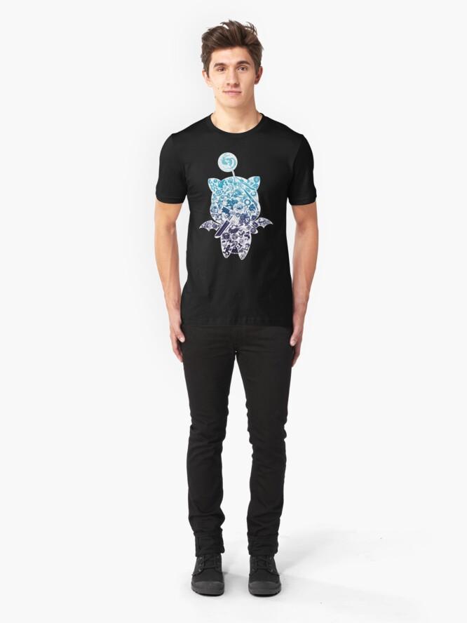 Alternative Ansicht von Moogle-verse (blue) Slim Fit T-Shirt