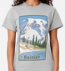 Vintage Mount Rainier Travel Poster Classic T-Shirt