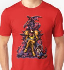 Metroid - The Huntress Throne (with Mario) T-Shirt