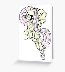 Fluttershy stencil art Greeting Card