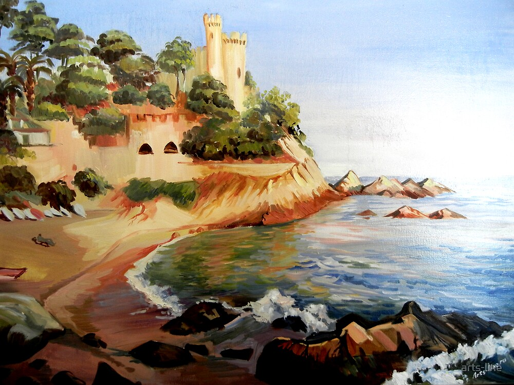Lloret de Mar. Spain. Oil painting. by arts-line