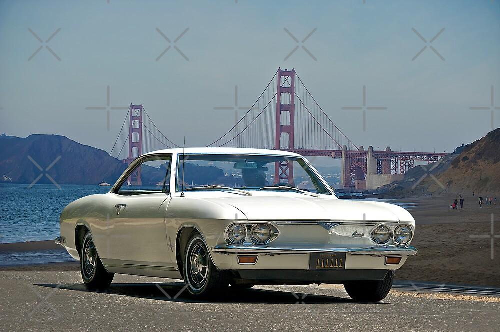 1965 Chevrolet Corvair at the Golden Gate Bridge by DaveKoontz
