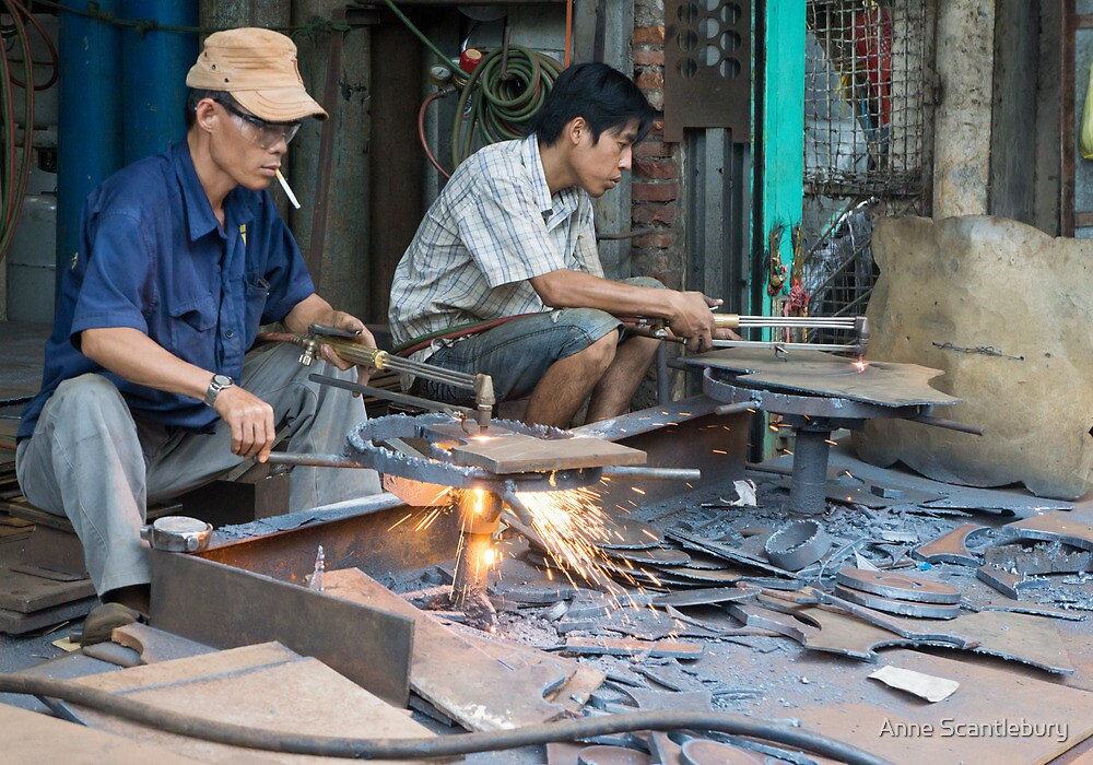 metal workers by Anne Scantlebury