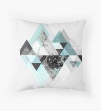 Graphic 110 (Turquoise Version) Throw Pillow