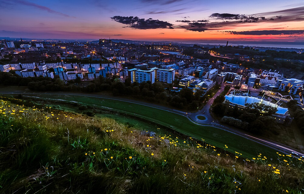 Salisbury crags sunset by Graeme  Ross
