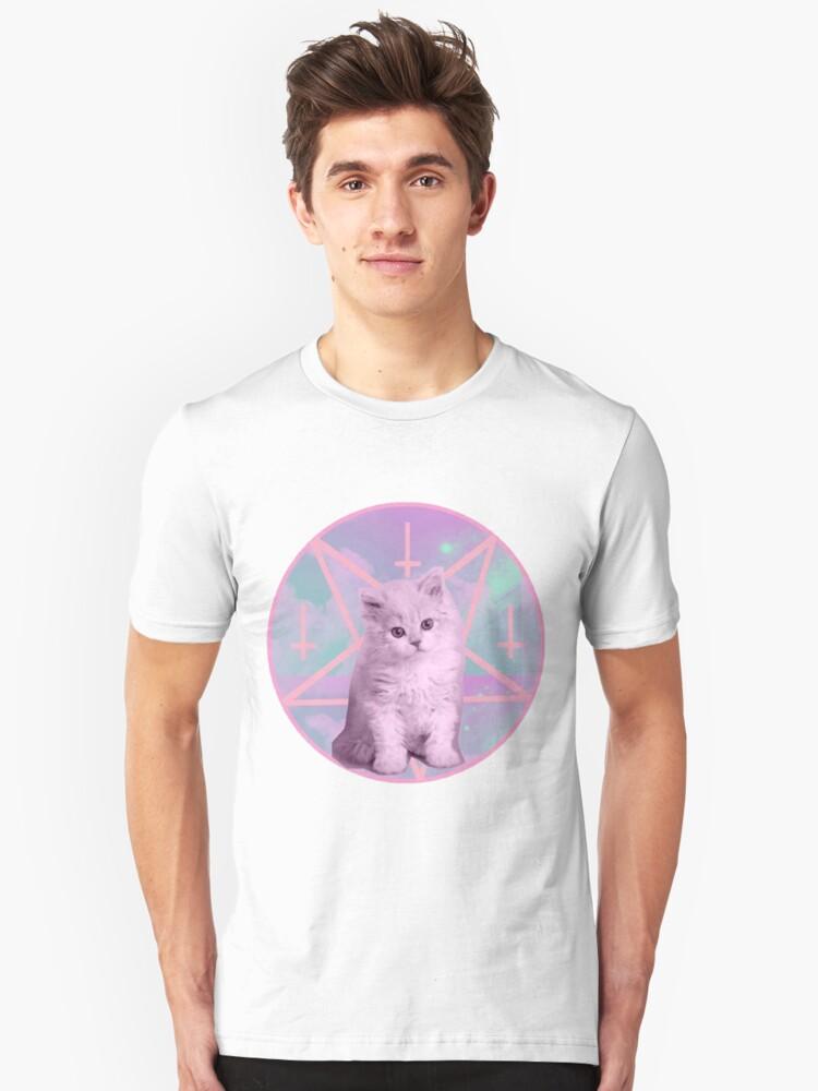 Pentagram Kitty Unisex T-Shirt Front