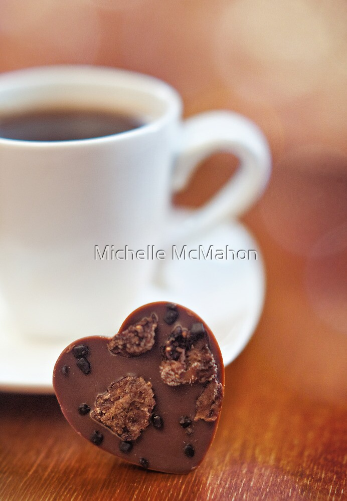 chocolate heart by Michelle McMahon