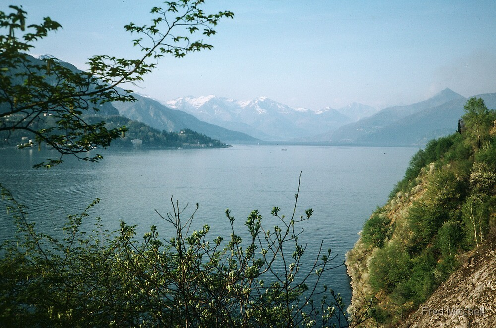 Northern end of lake Como as we approach Bellagio Italy 19840424 0055m by Fred Mitchell
