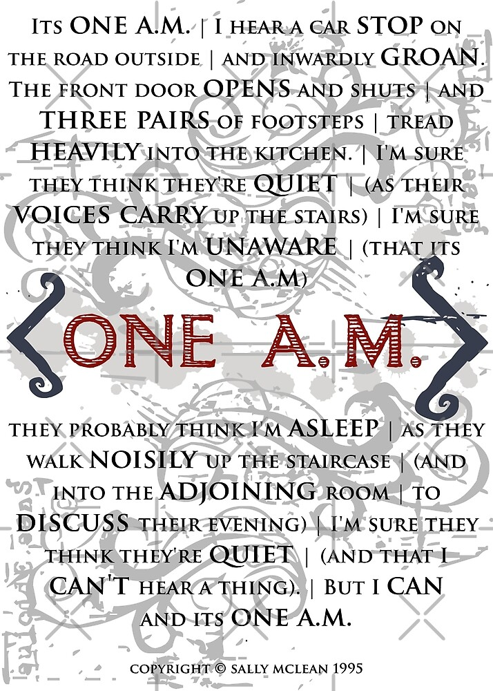 One A.M. by Sally McLean by Incognita Enterprises