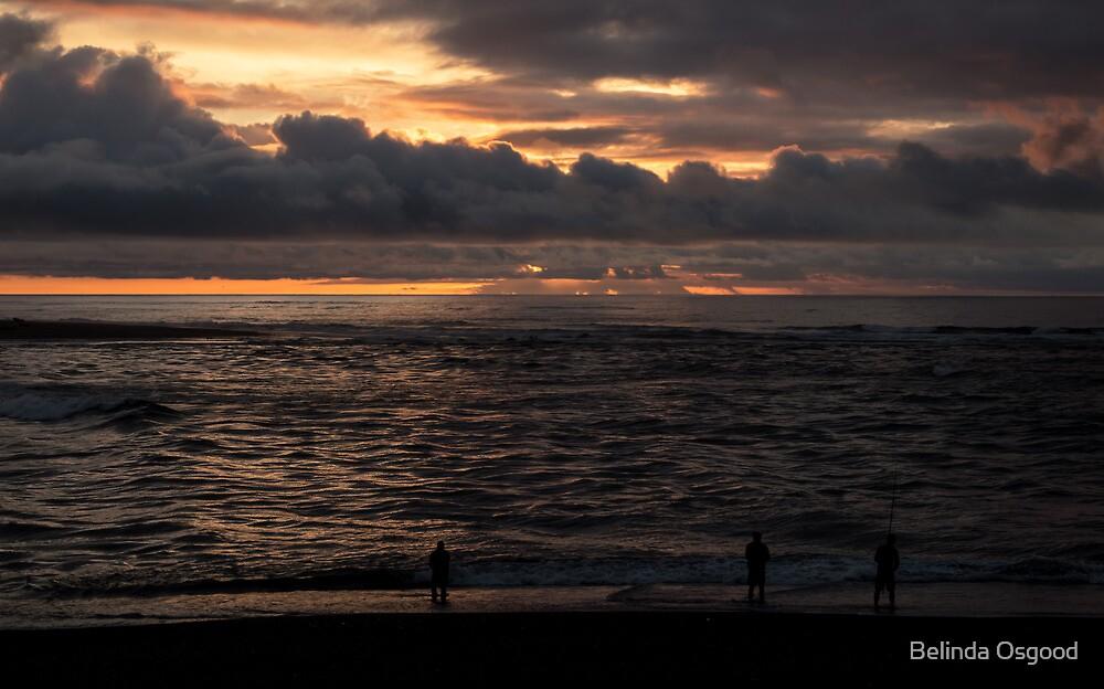 Fishing at Sunset by Belinda Osgood