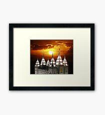 Salt Lake Temple Sunset Spires 20x24 Framed Print