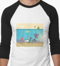 What's going on at the sea? Kids collection Men's Baseball ¾ T-Shirt