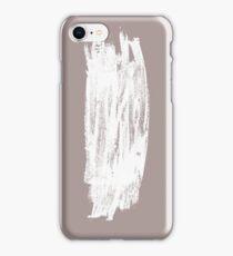 Simple Minimalistic White Brushtrokes on Beige iPhone Case/Skin