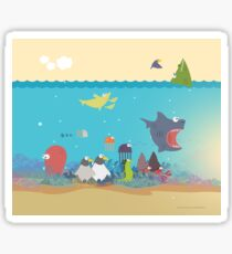 What's going on at the sea? Kids collection Sticker