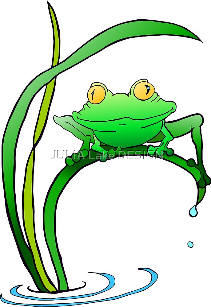 Stay Green Frog by JULIA Lake DESIGN
