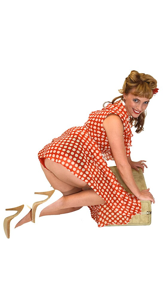 Pin up girl packing for a trip. by jvoweaver