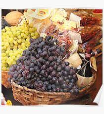 Italian Food Basket Poster