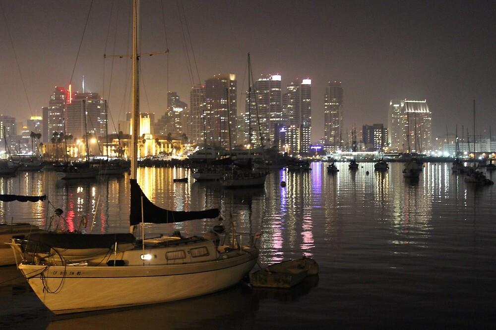 San Diego Bay Boats by Murad Abel