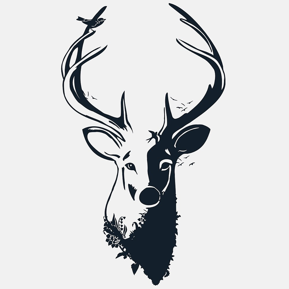 Stag - Dark by DesignsByEmily
