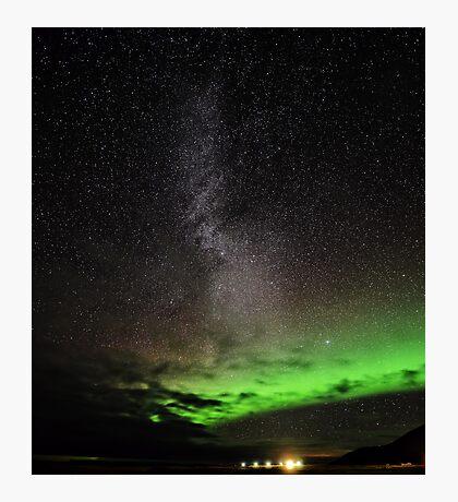 Aurora and Milky Way Photographic Print