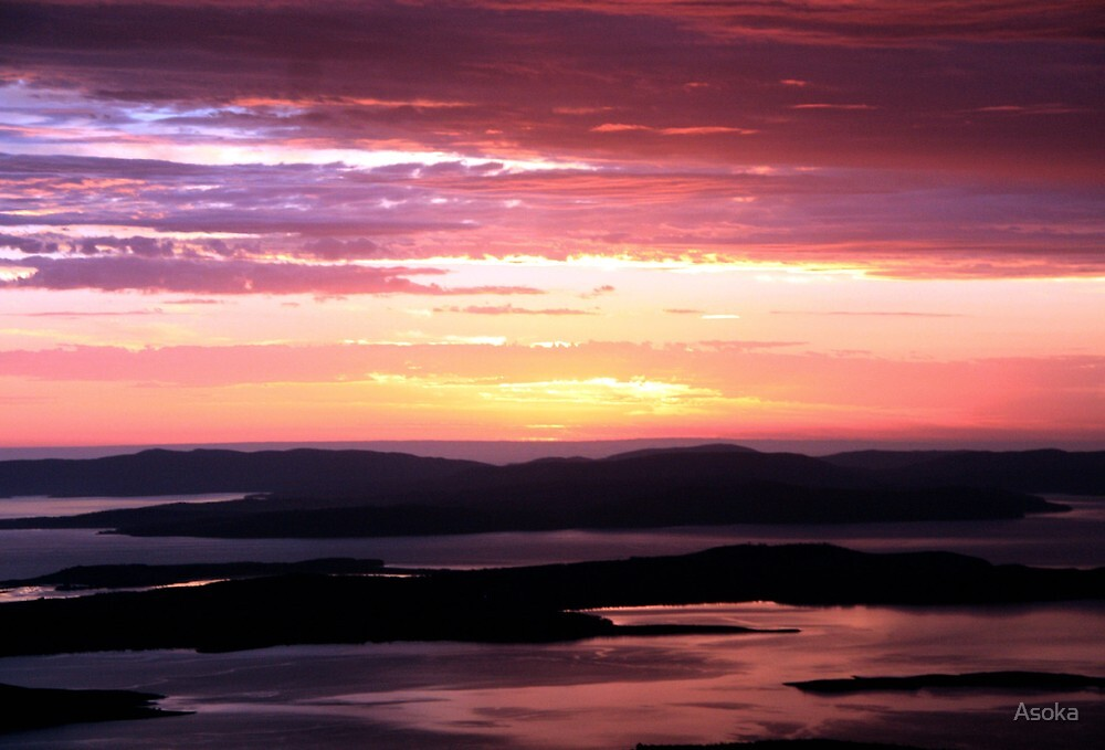 Pre-Dawn on the Mountain by Asoka