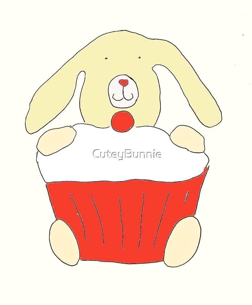 Classic Red Bunnie Cake by CuteyBunnie