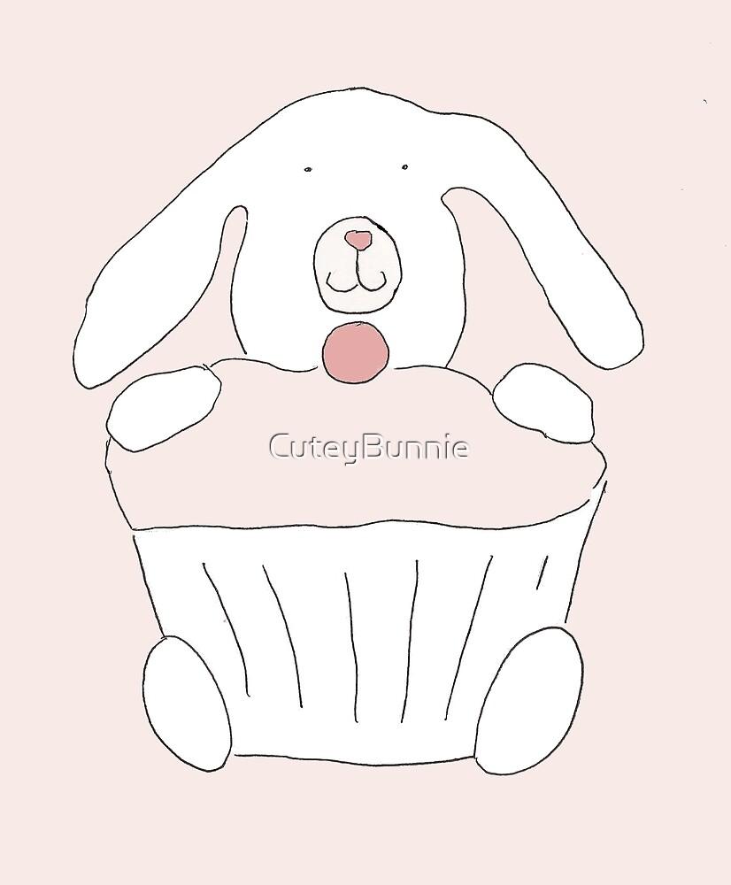 Pink and White Bunnie Cake by CuteyBunnie