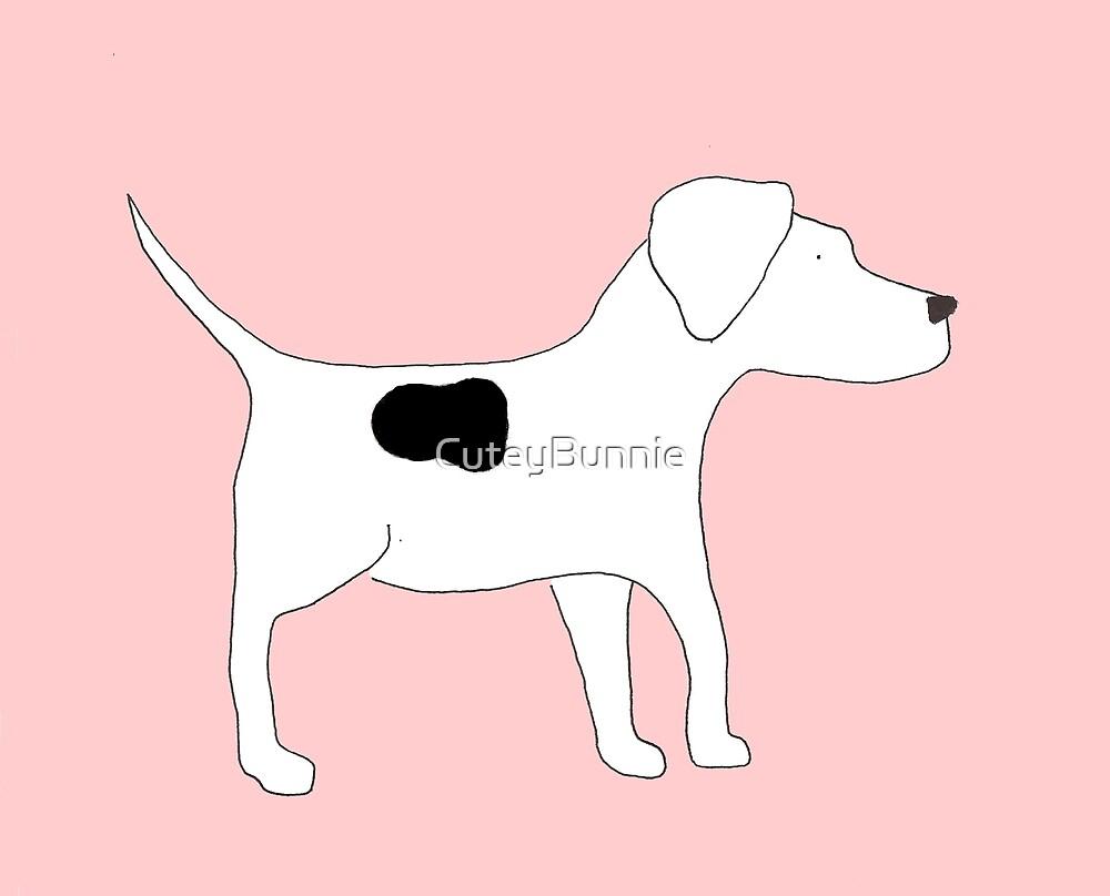 Dog Bradley Pink Back Classic by CuteyBunnie