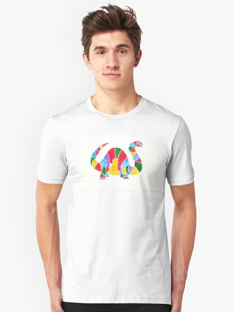 Jazzy Dinosaur Unisex T-Shirt Front
