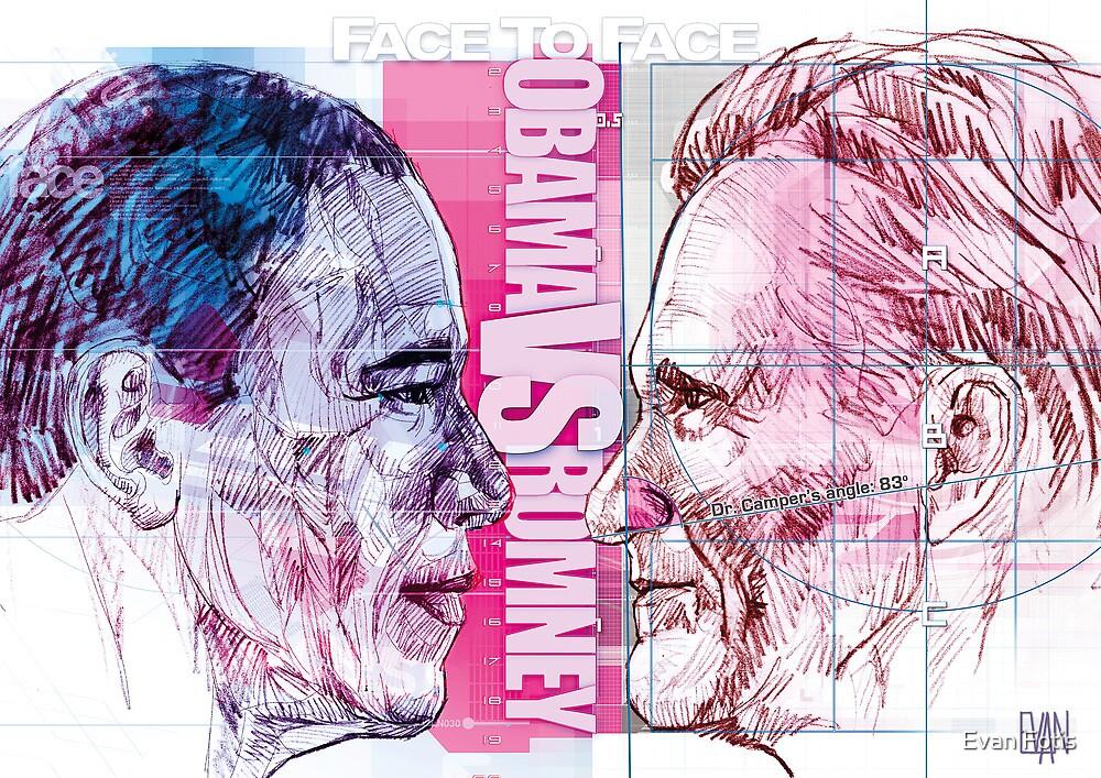 Obama vs Romney by Evan Fotis