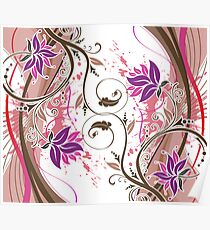 Abstract Floral 9A Poster