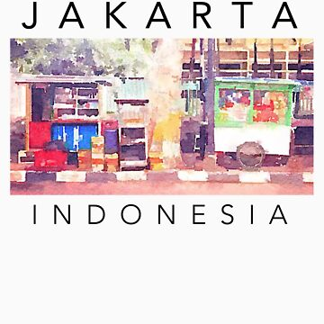 Jakarta Indonesia T-Shirt by ogcostanza